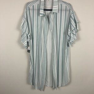 Mint Green & White UMGEE oversize top